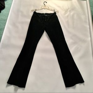 Black bebe Genuine Leather pants